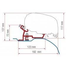 ADAPTER F80S E F65S - KIT DUCATO / CITR OËN / PEUGEOT - H2 - L2/L3 - X250/X290