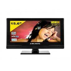 TELEVISORE MAJESTIC 15.6' FULL-HD DVD/MPEG4 - DVB-S/S2 HD - 12/220V