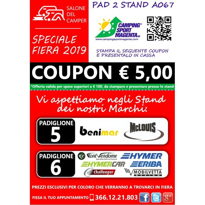 Coupon Fiera Parma € 5 2019