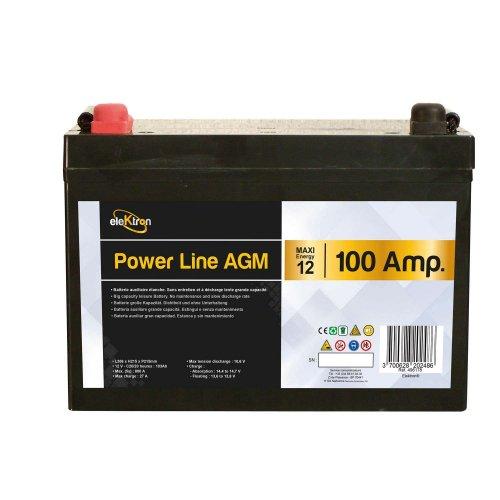 batteria power line agm 100ah lunghxaltxprof 306 x 215 x 169 mm. Black Bedroom Furniture Sets. Home Design Ideas