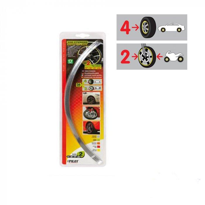 39 rim stickers 39 adesivi per ruote 17 20 39 cromo for Adesivi per piscine