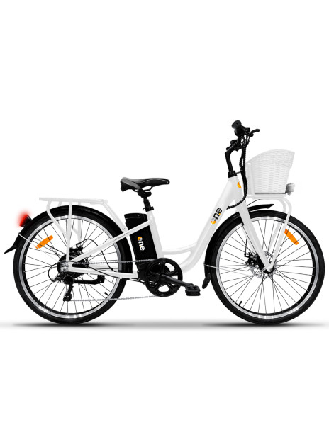 BICICLETTA ELETTRICA - THE ONE E-BIKE LIGHT WHITE - RUOTE ...